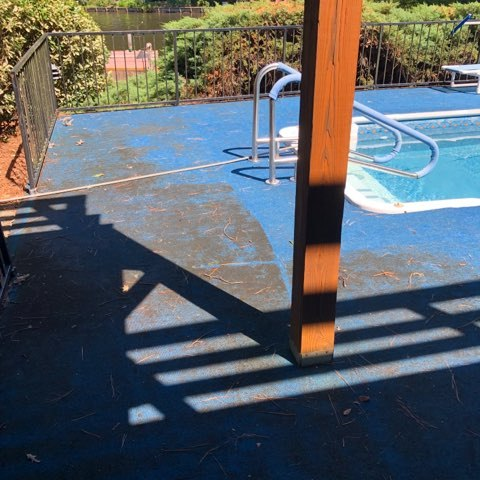 creative exterior pool pressure washing